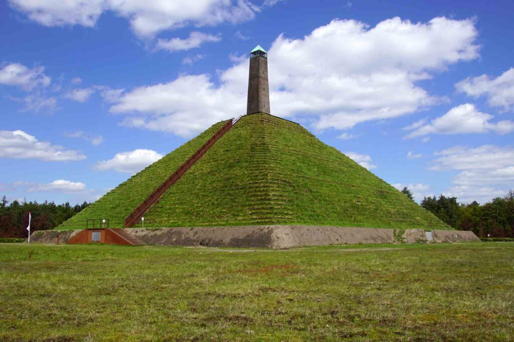 Austerlitz Pyramid is one of the landmarks in the Netherlands
