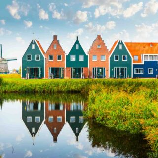 The Netherlands is famous for its cute houses