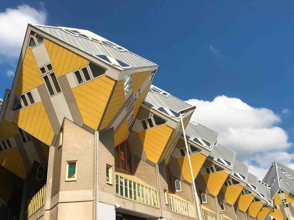 Cube Houses are some of the landmarks in the Netherlands