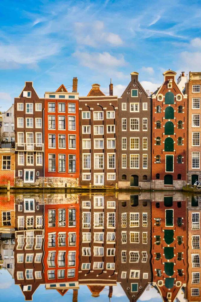 Gingerbread Houses on Damrak are some of the famous landmarks in the Netherlands