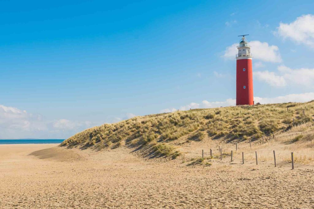 Texel Lighthouse is one of the famous Dutch landmarks not to miss