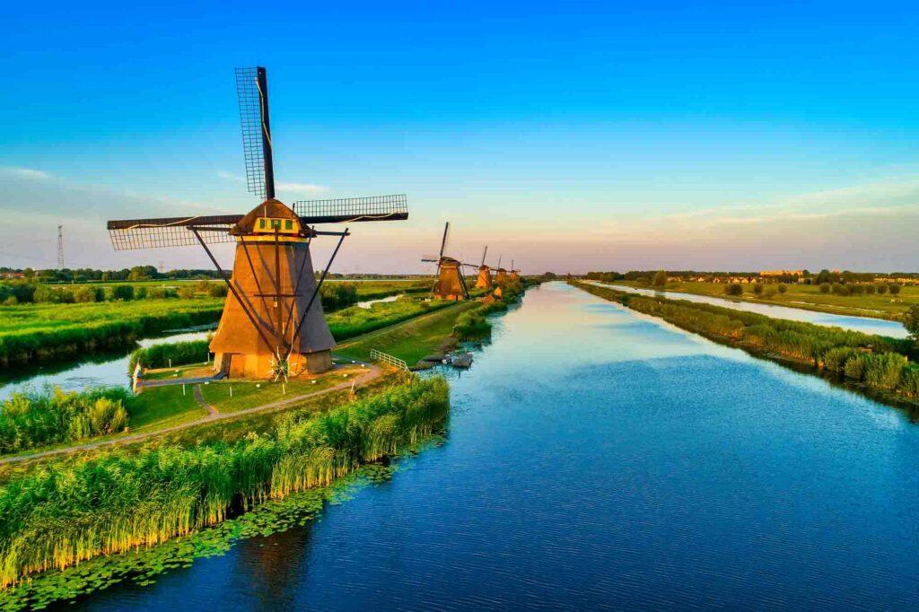 Kinderdijk is one of the best landmarks in the Netherlands